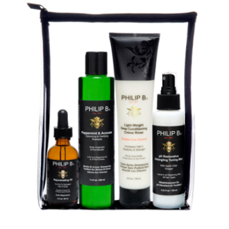 Four Step Hair & Scalp Treatment Set (Paraben-free formula)