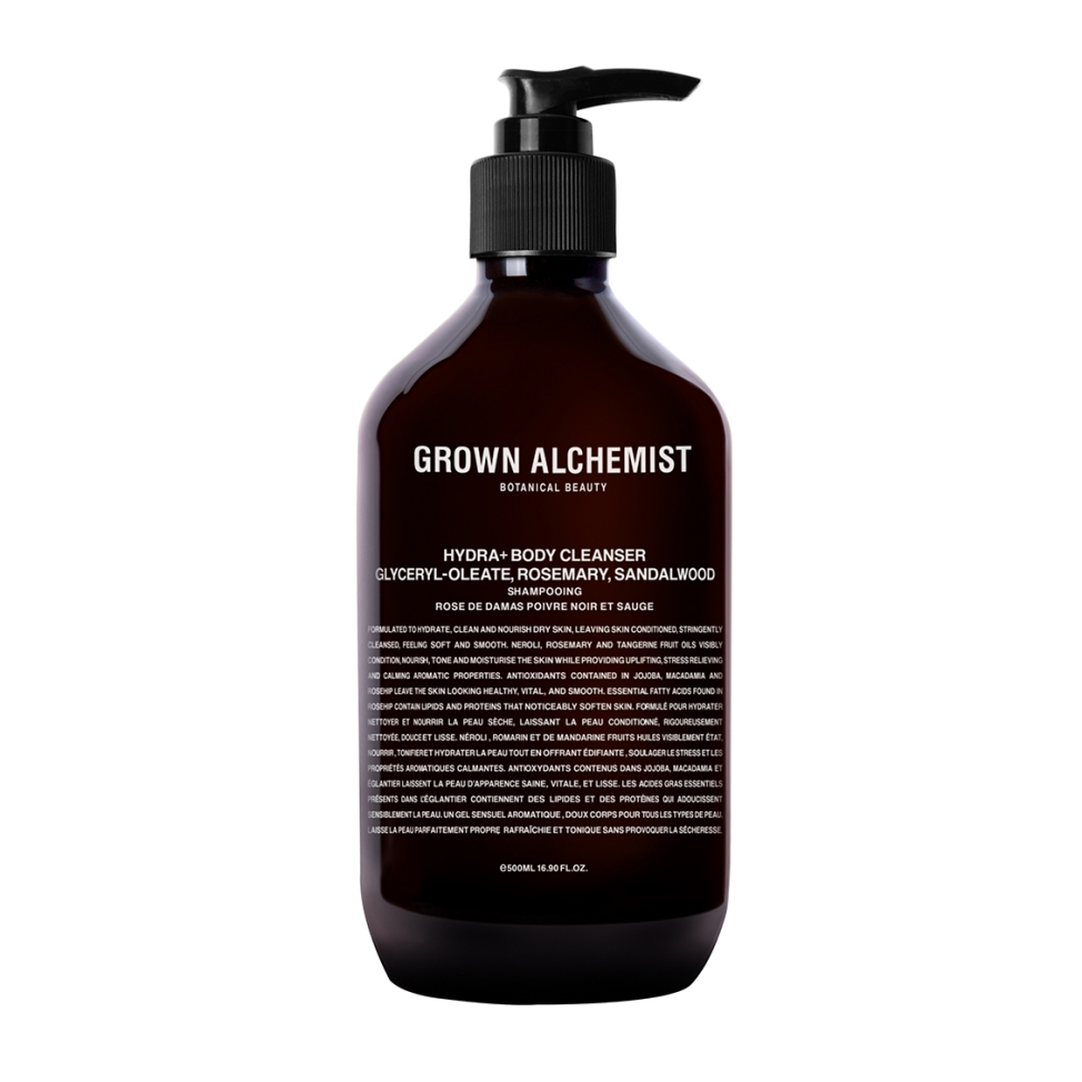 Hydra+ Body Cleanser: Glyceryl-Oleate, Rosemary, Sandalwood